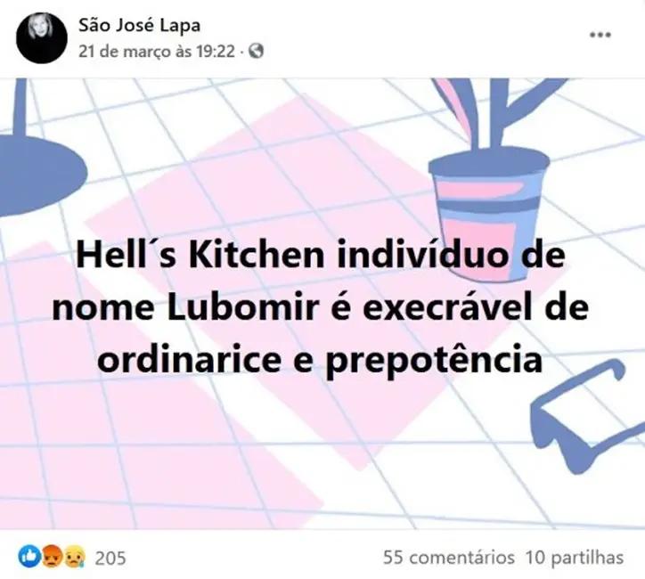 """Atriz São José Lapa ataca chefe Ljubomir: """"É execrável de ordinarice e prepotência…"""""""