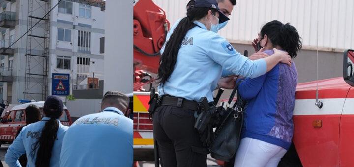 Desabamento de elevador mata dois pintores a 15 metros de altura. Famílias em lágrimas
