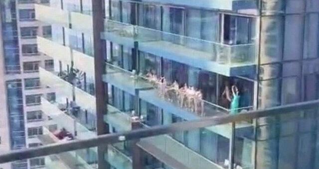 15 mulheres ficam nuas na varada de prédio do Dubai a tirar fotos e acabam detidas