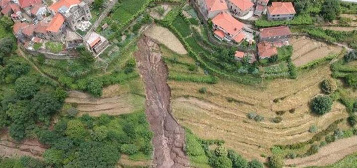 Cratera gigante desaloja 31 pessoas em Arcos de Valdevez