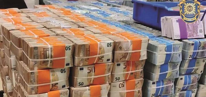 PJ apanha traficante de droga com 1,2 milhões de euros em notas em armazém no Alentejo