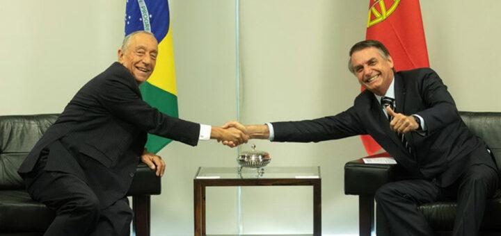 Bolsonaro manda piadas sobre sexo e goza com os portugueses em almoço com Marcelo