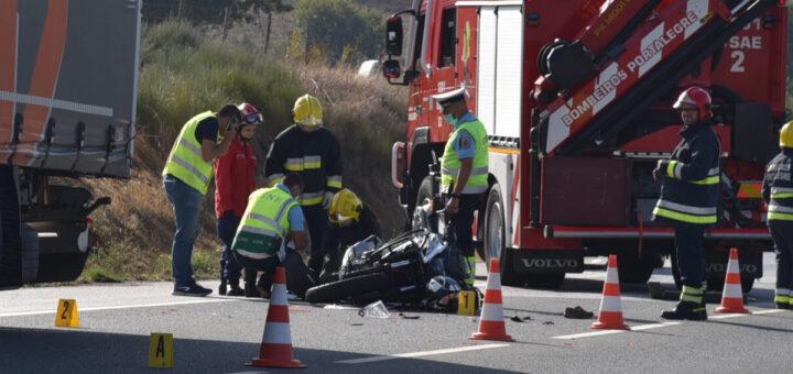 Acidente de mota em Portalegre causa a morte de um pai e deixa filha ferida