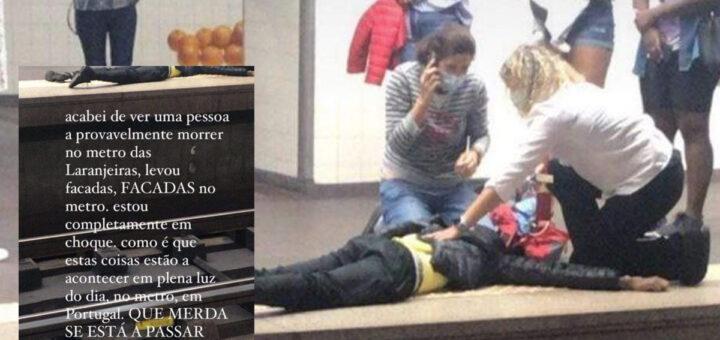 Jovem de 19 anos morto à frente de toda a gente no metro de Lisboa. Rapariga conta tudo o que viu
